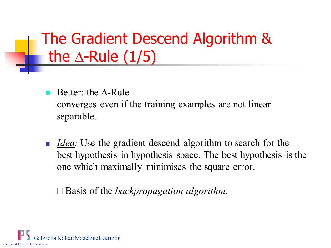 The Gradient Descend Algorithm & the D-Rule (1/5)