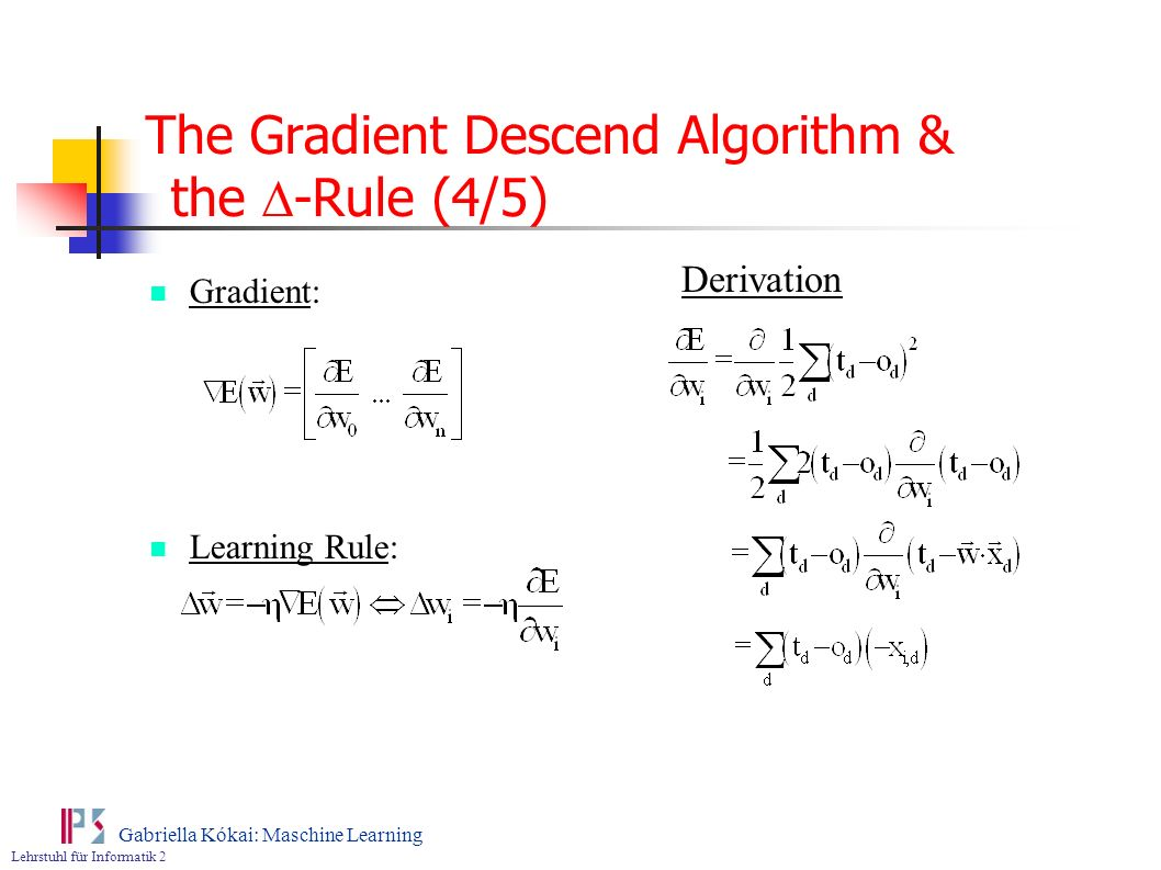 The Gradient Descend Algorithm & the D-Rule (4/5)