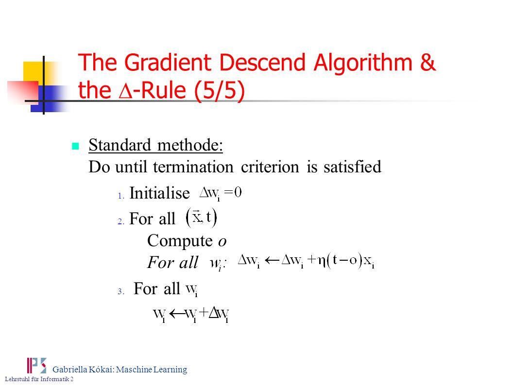 The Gradient Descend Algorithm & the D-Rule (5/5)