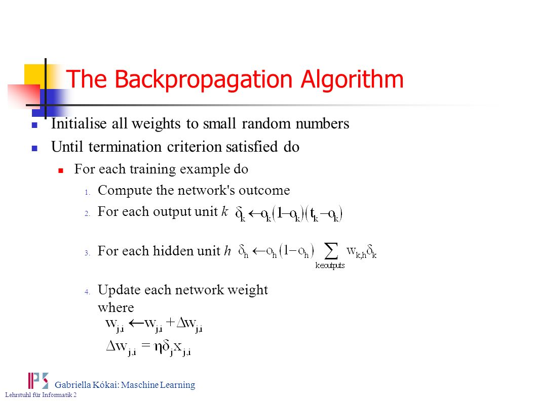 The Backpropagation Algorithm
