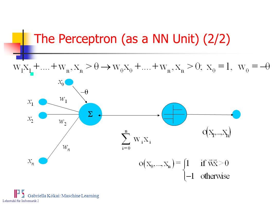 The Perceptron (as a NN Unit) (2/2)