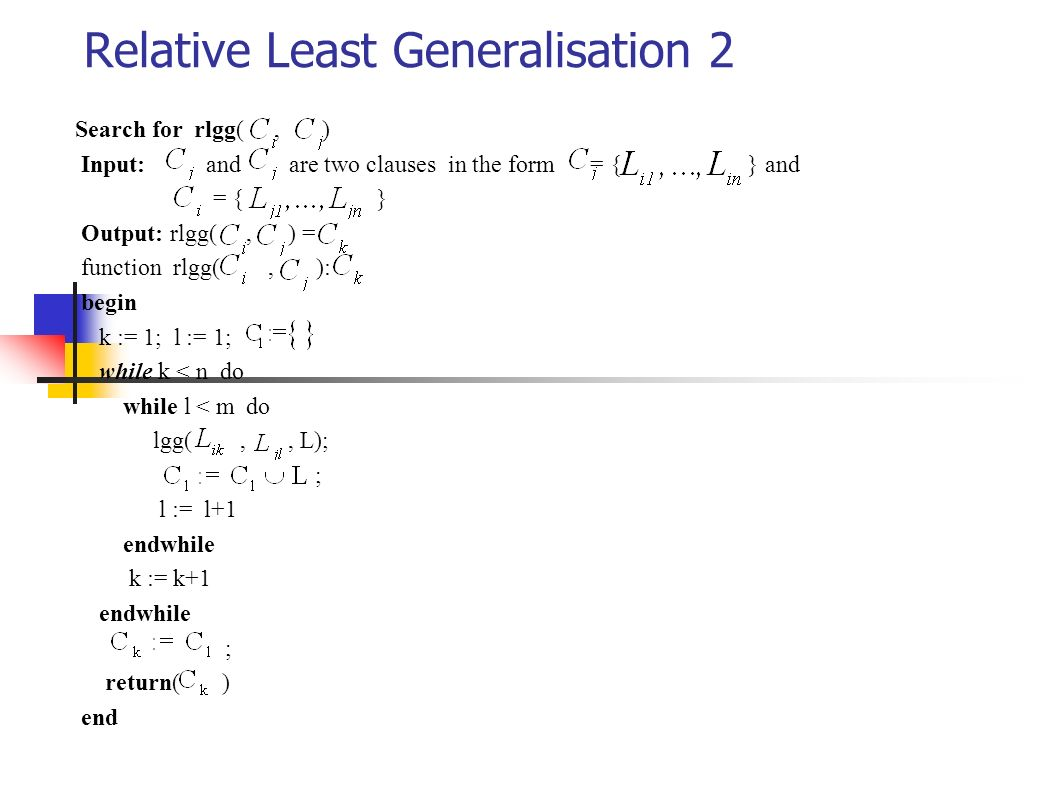 Relative Least Generalisation 2