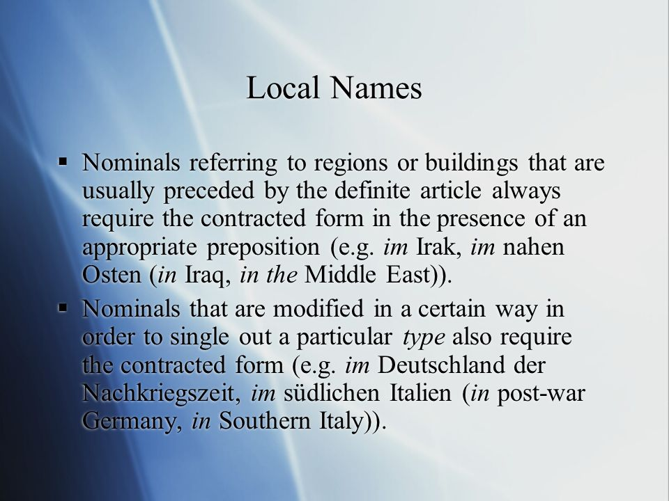 Local Names
