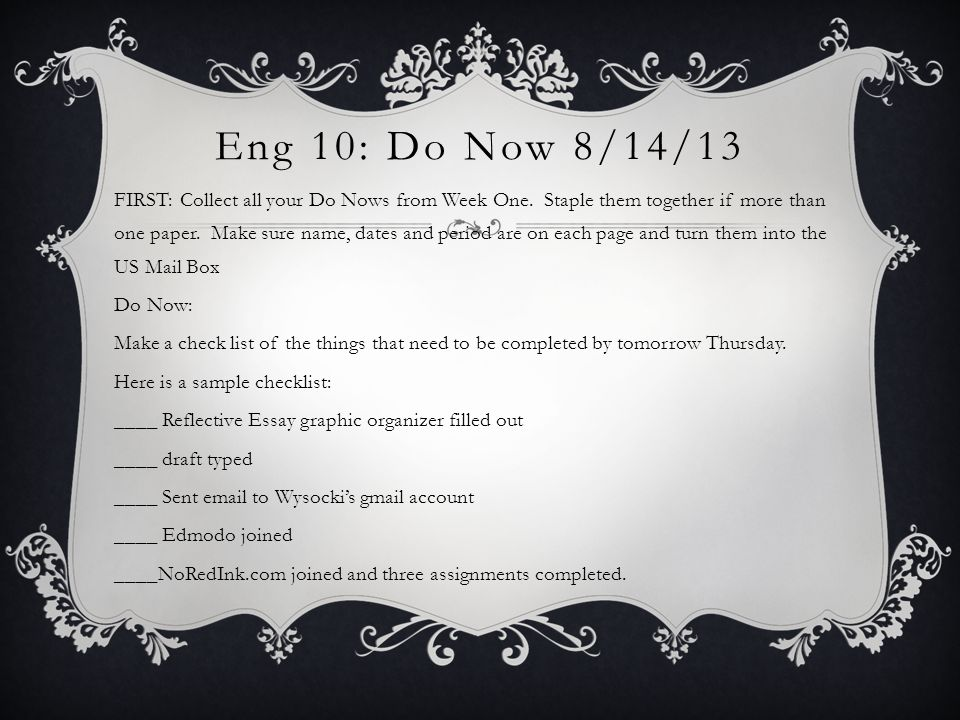Eng 10: Do Now 8/14/13