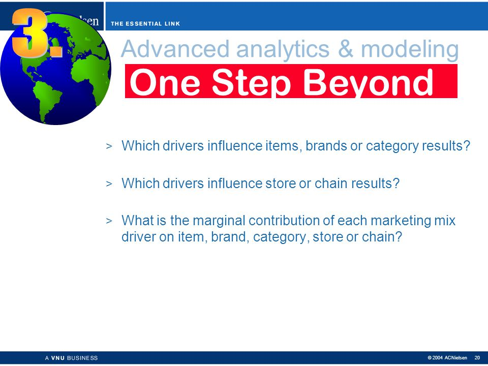 Advanced analytics & modeling
