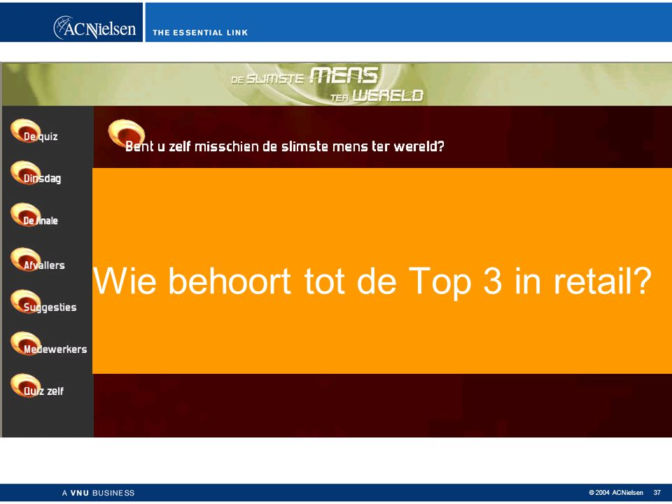 Wie behoort tot de Top 3 in retail