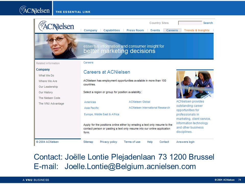 Contact: Joëlle Lontie Plejadenlaan 73 1200 Brussel E-mail: Joelle
