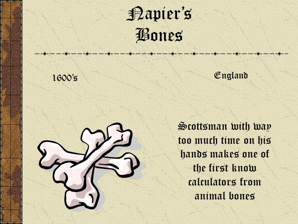 Napier's BonesEngland.1600's.