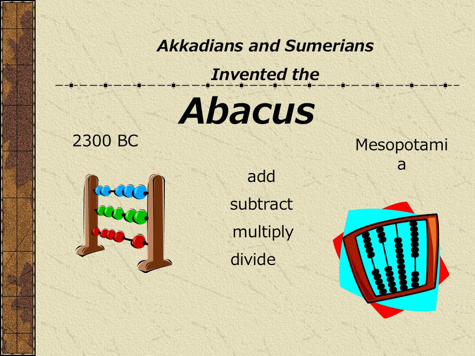 Akkadians and Sumerians