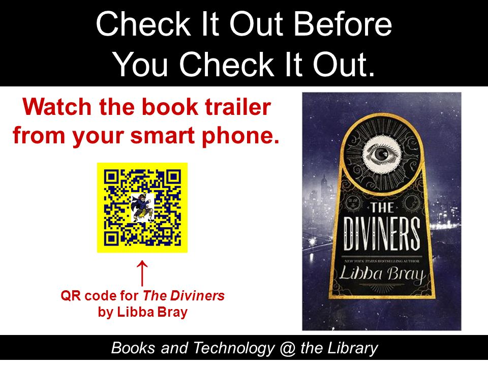 Watch the book trailer from your smart phone. QR code for The Diviners
