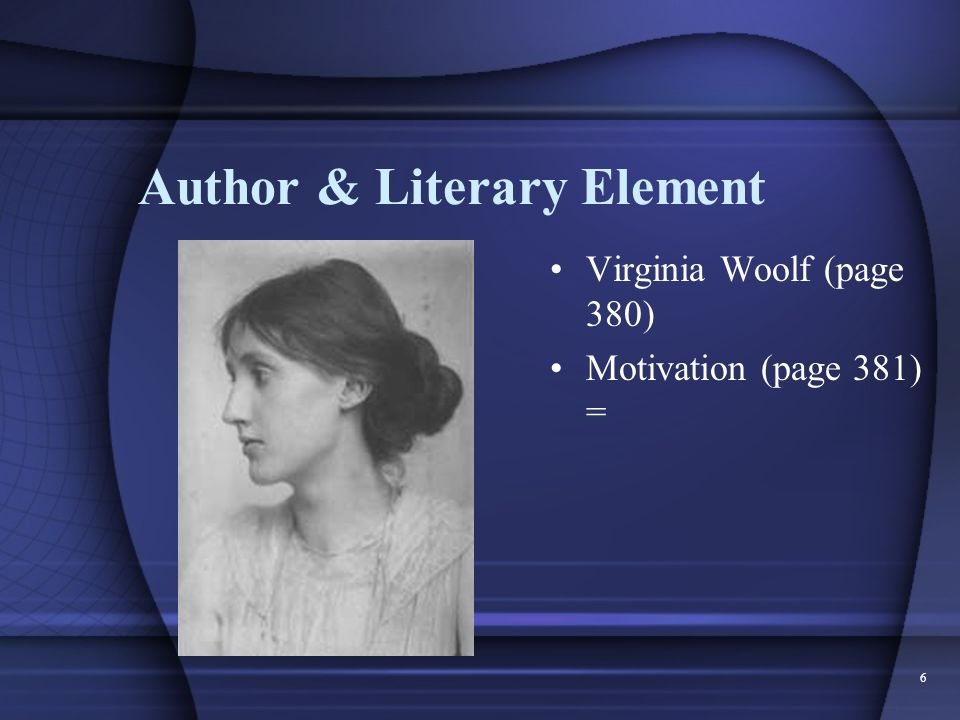 Author & Literary Element