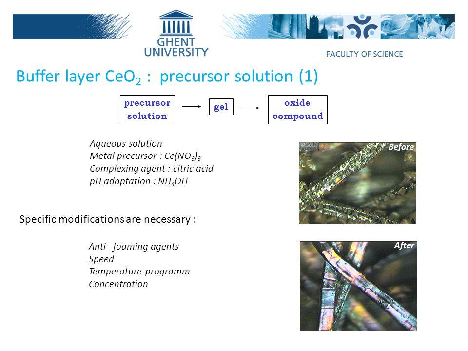 Buffer layer CeO2 : precursor solution (1)