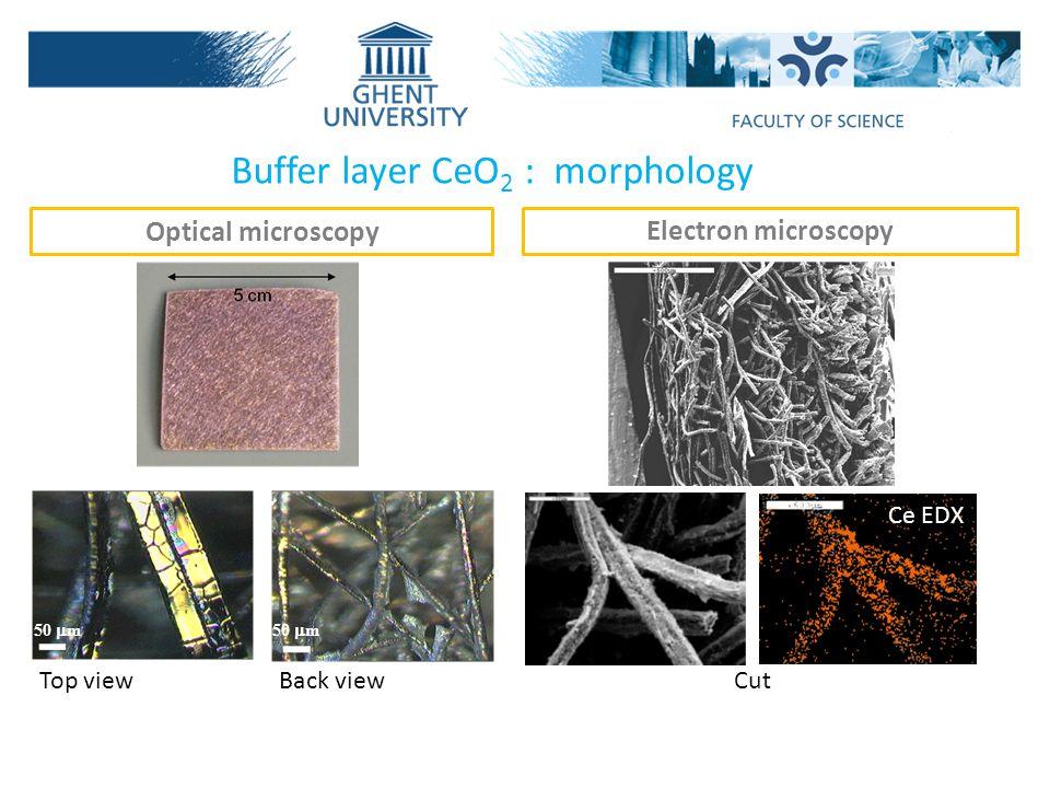 Buffer layer CeO2 : morphology