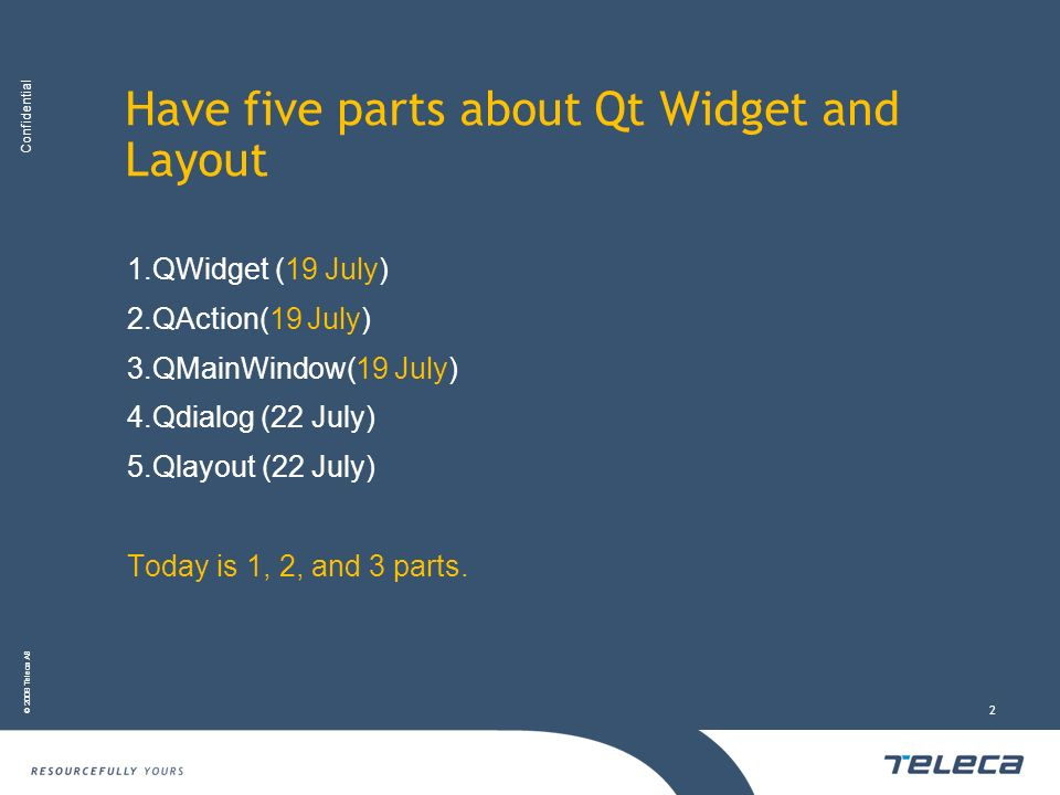 Have five parts about Qt Widget and Layout