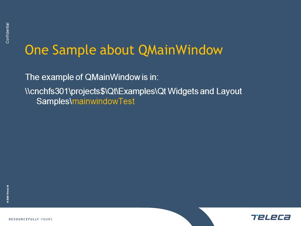 One Sample about QMainWindow