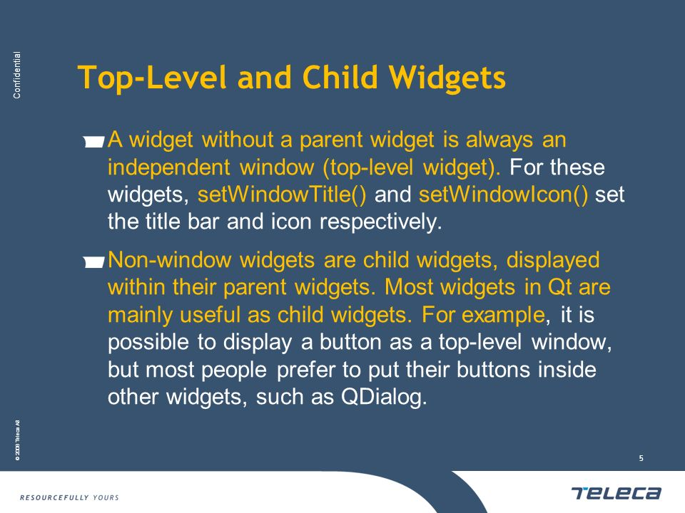 Top-Level and Child Widgets