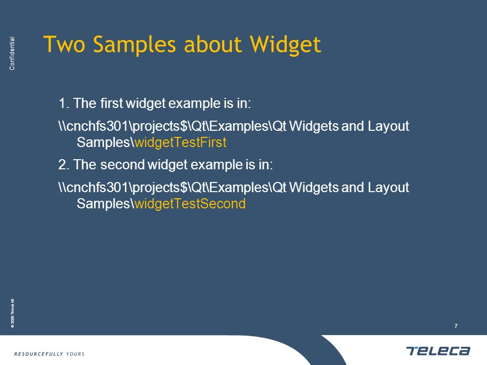 Two Samples about Widget