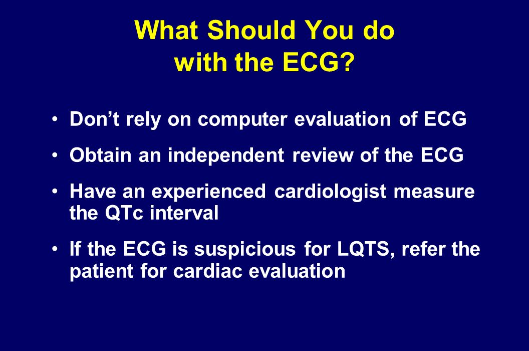 What Should You do with the ECG