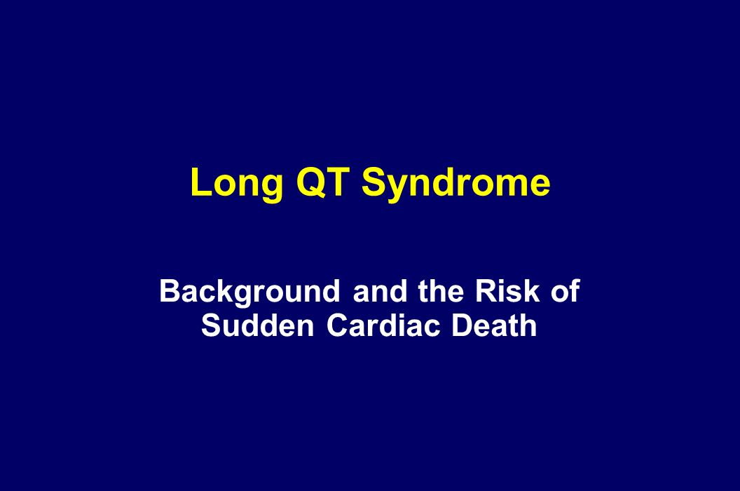 Background and the Risk of Sudden Cardiac Death