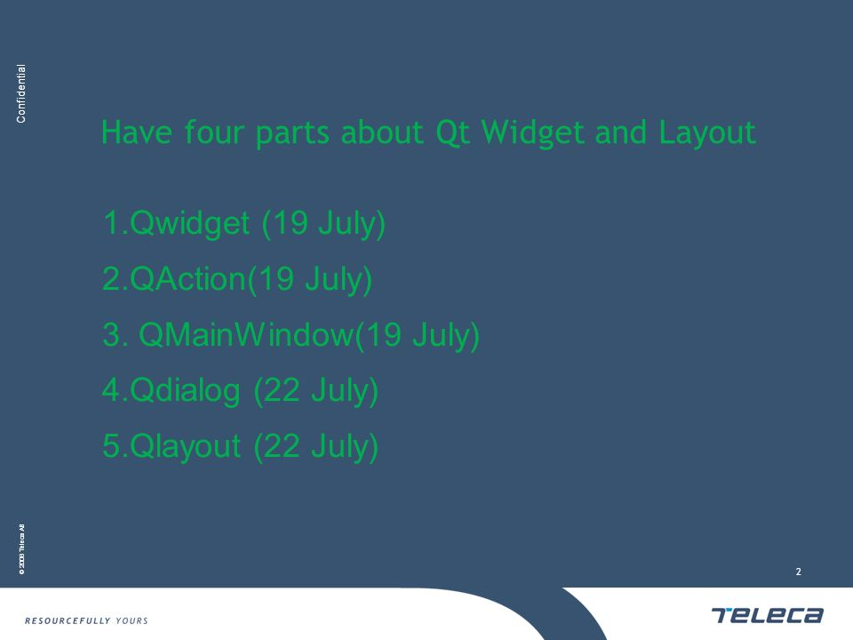Have four parts about Qt Widget and Layout