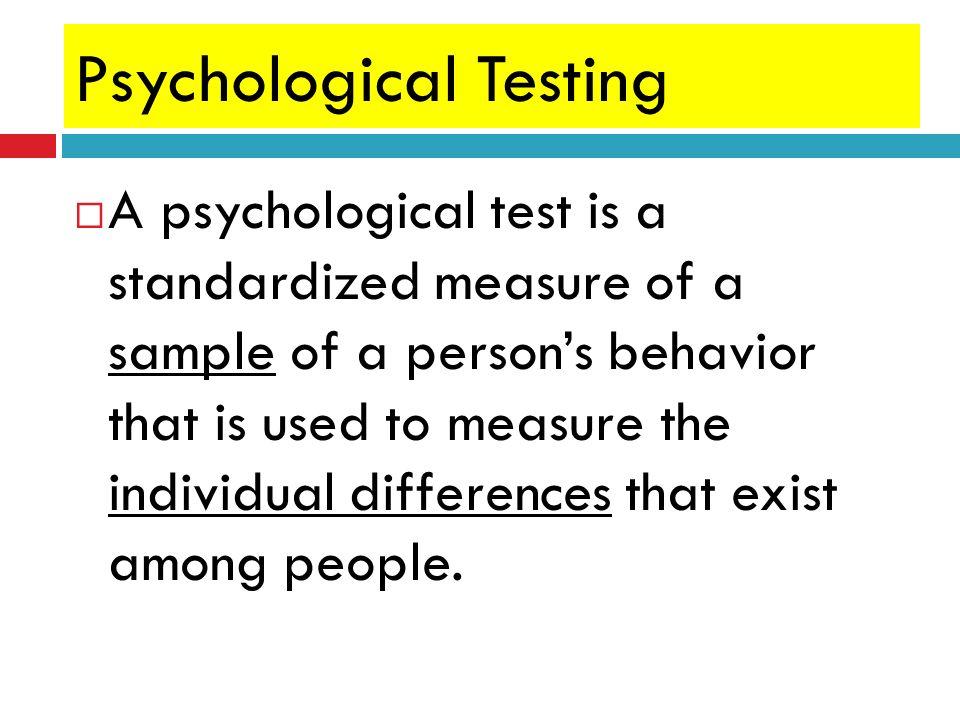 Psychological Testing