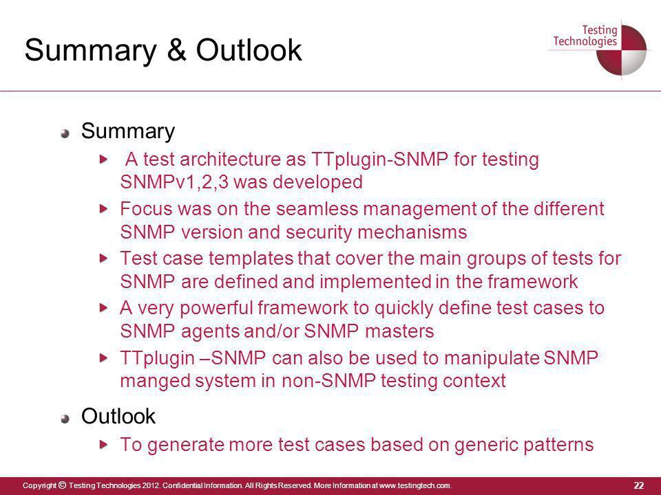 Summary & Outlook Summary Outlook