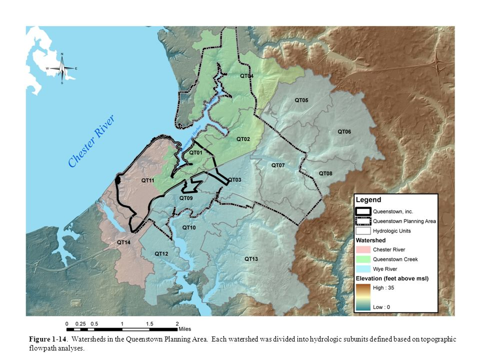 Figure 1-14. Watersheds in the Queenstown Planning Area
