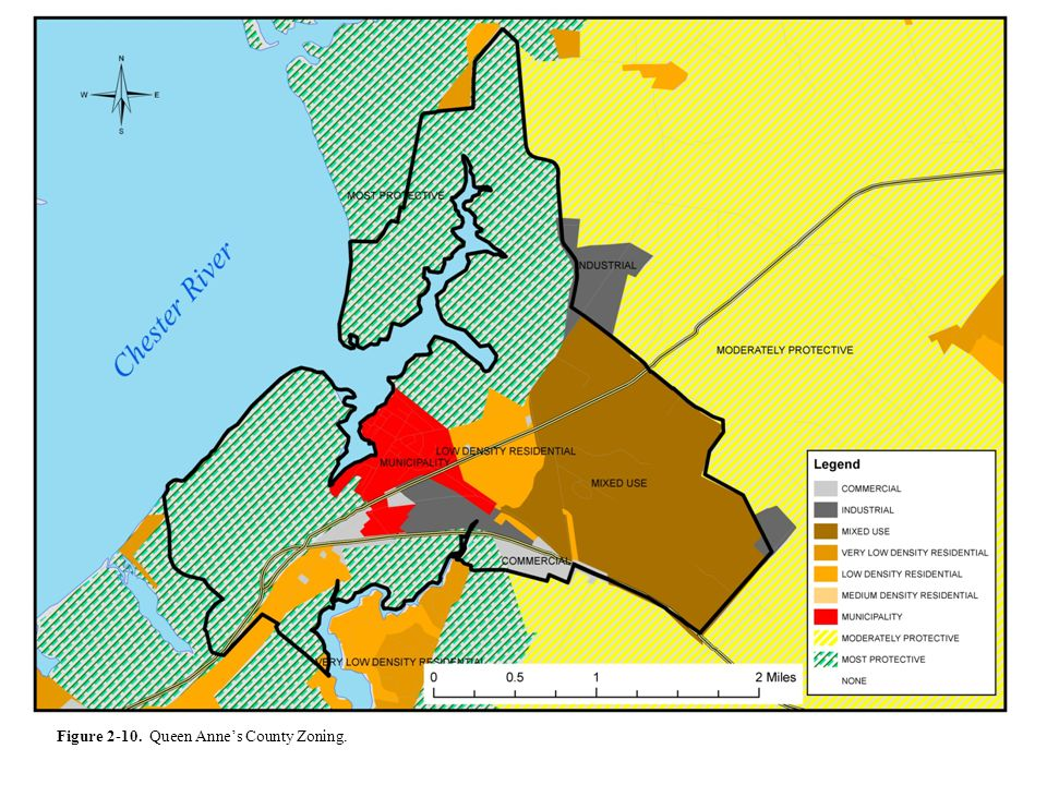 Figure 2-10. Queen Anne's County Zoning.
