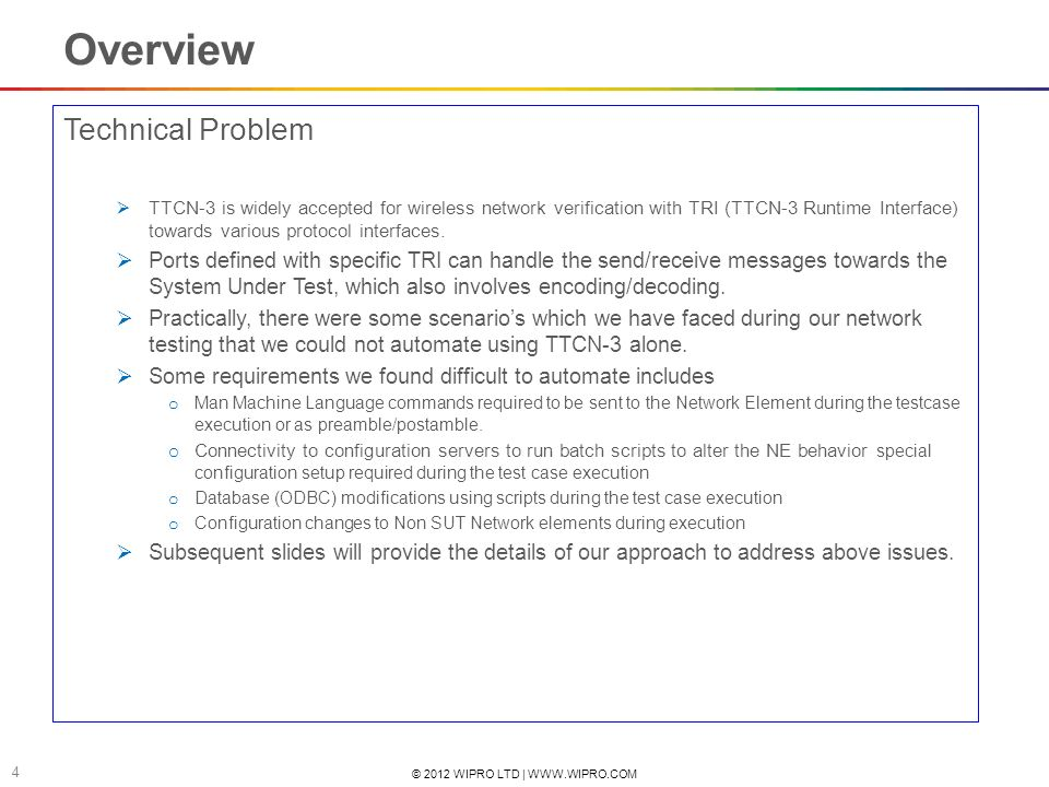 Overview Technical Problem