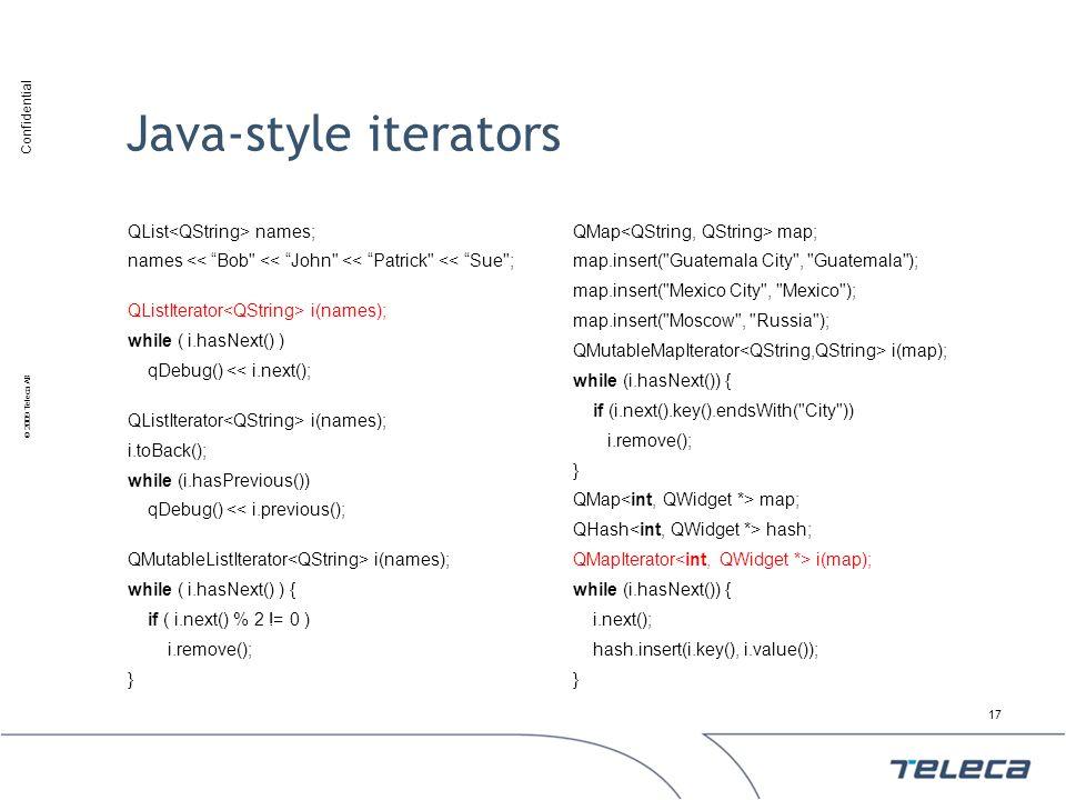 Java-style iterators