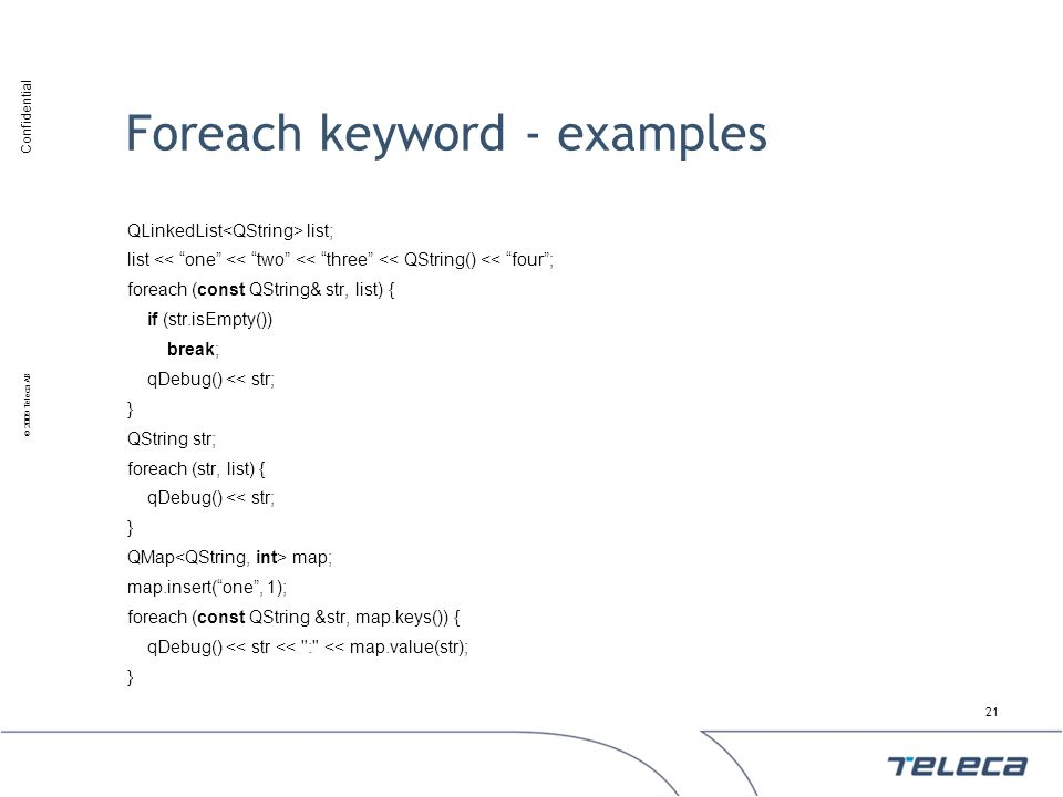 Foreach keyword - examples