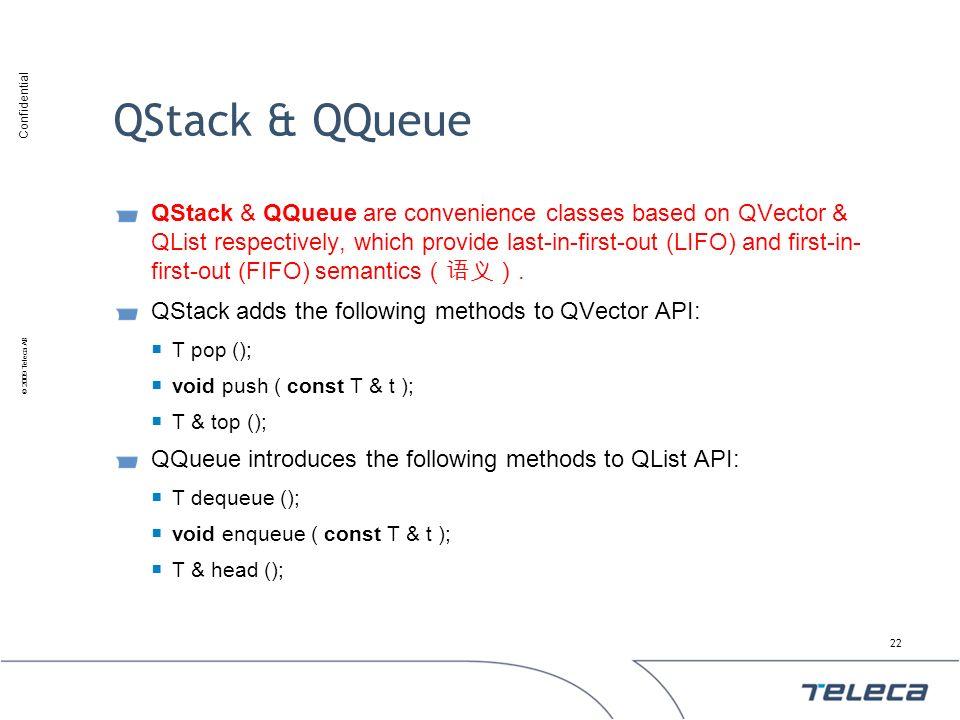 QStack & QQueue