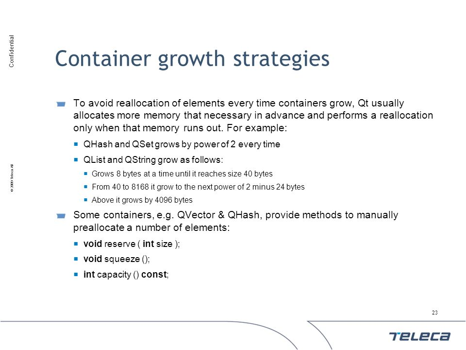 Container growth strategies