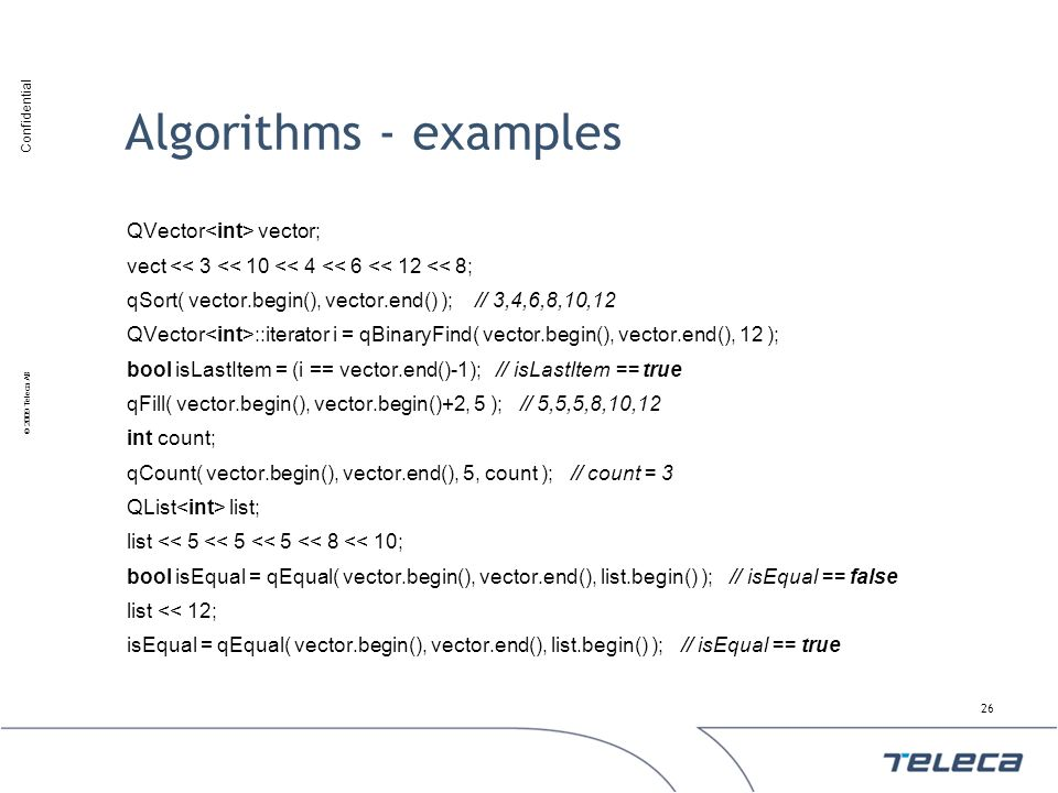 Algorithms - examples