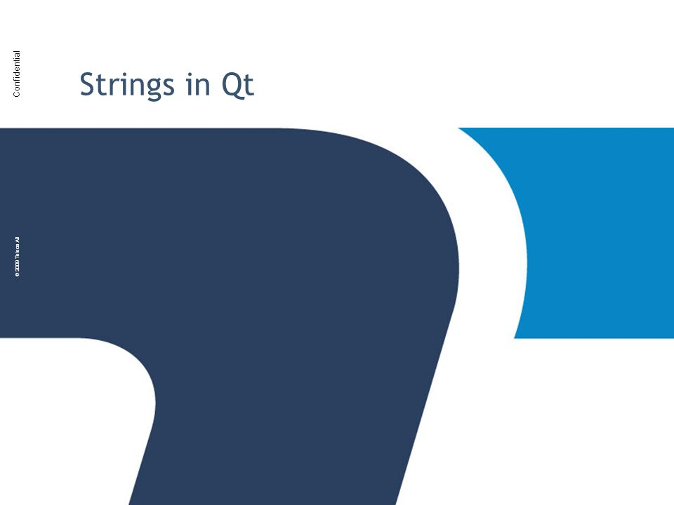 Strings in Qt