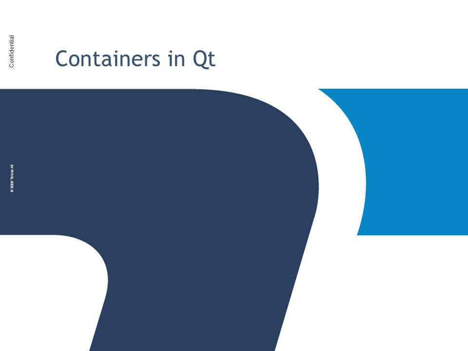 Containers in Qt