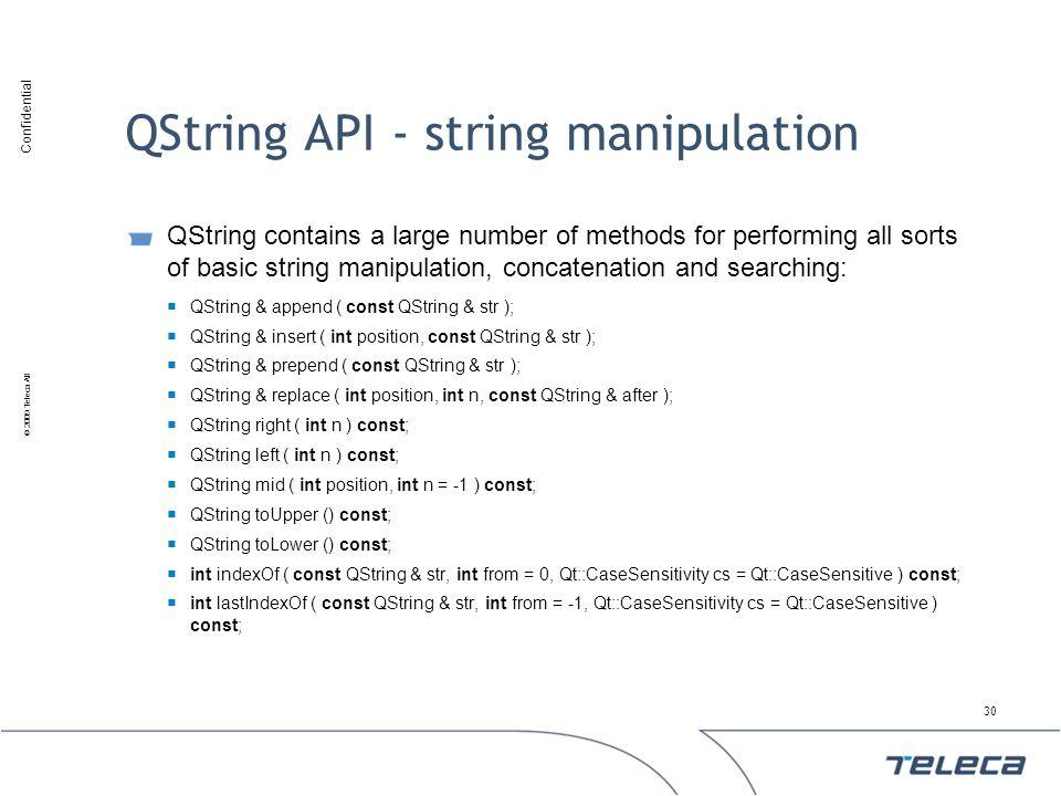 QString API - string manipulation