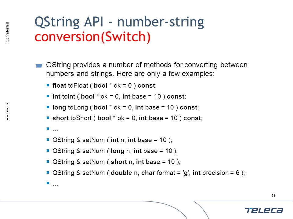QString API - number-string conversion(Switch)