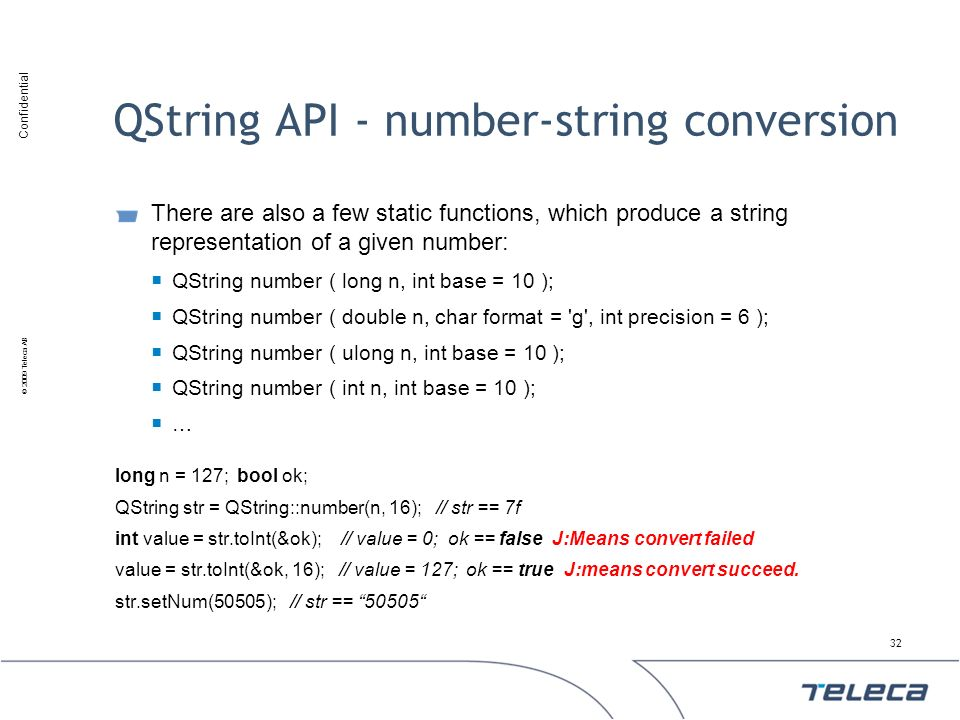 QString API - number-string conversion