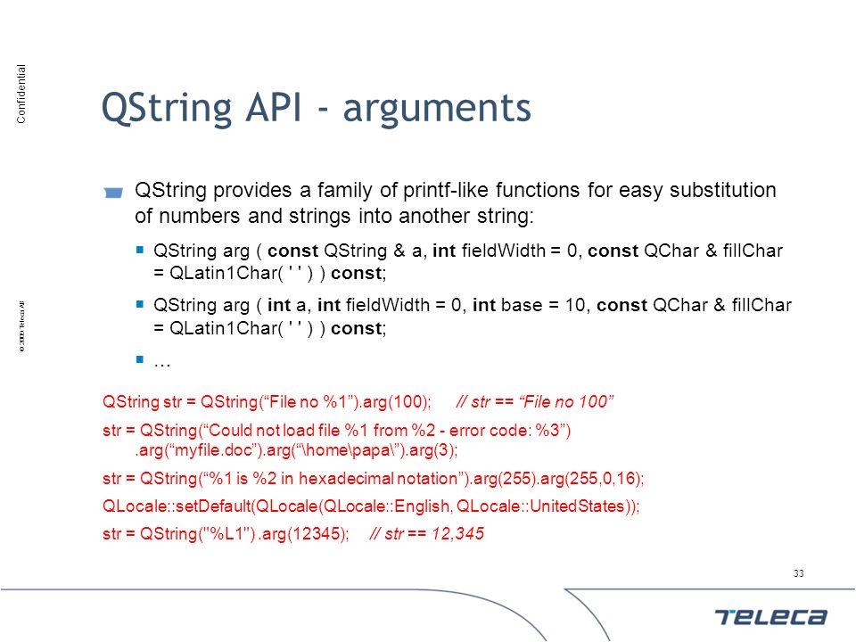 QString API - arguments