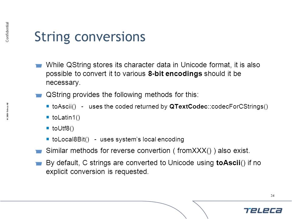 String conversions