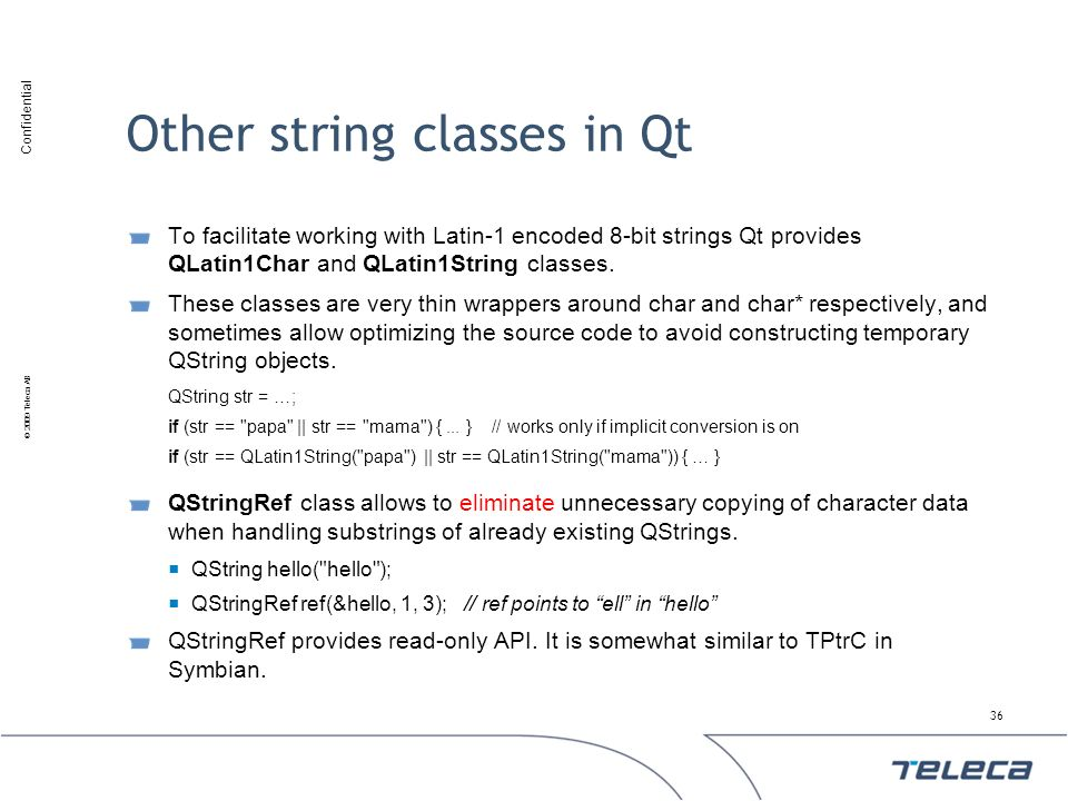 Other string classes in Qt