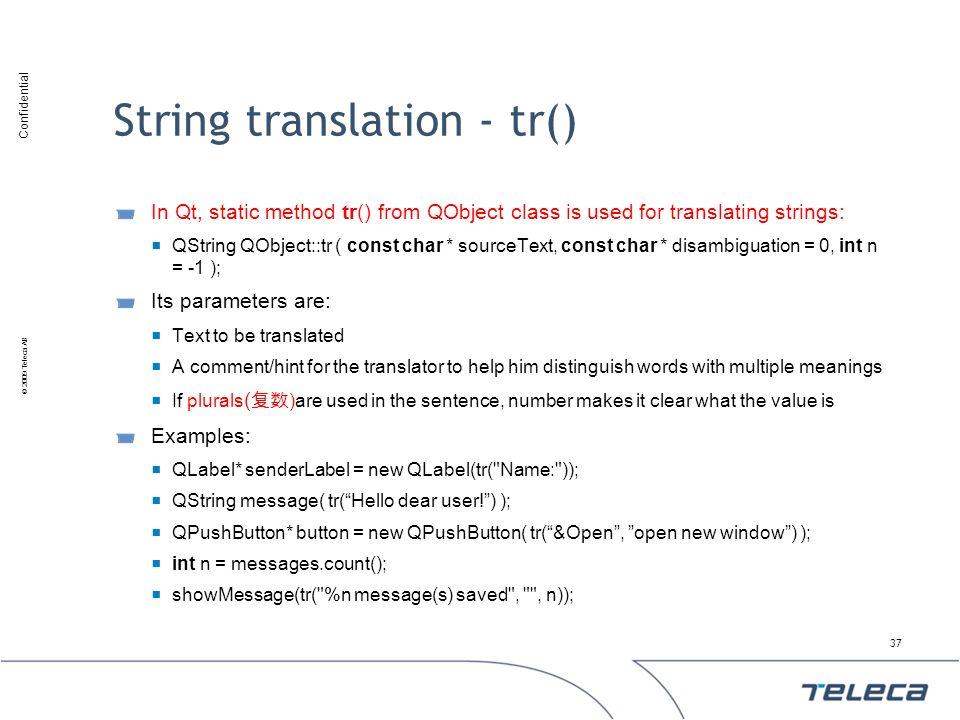 String translation - tr()
