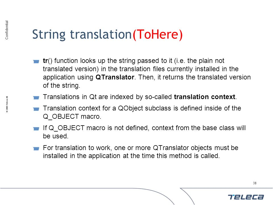 String translation(ToHere)