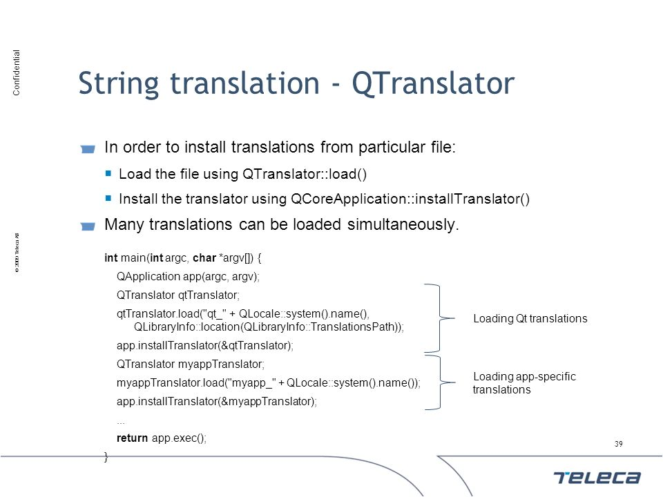 String translation - QTranslator