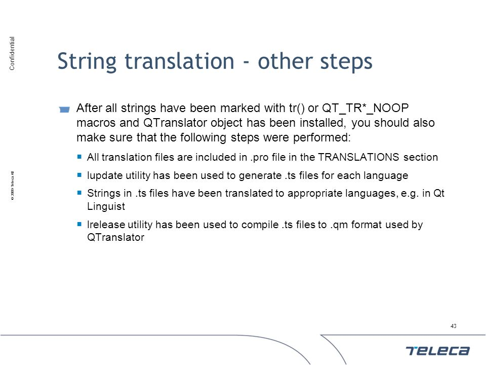 String translation - other steps