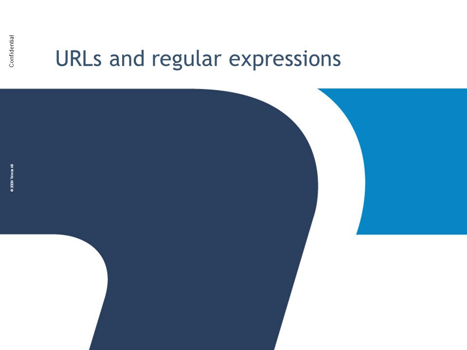 URLs and regular expressions