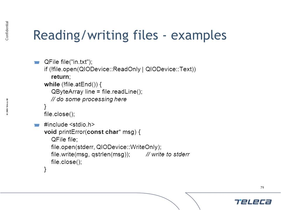 Reading/writing files - examples