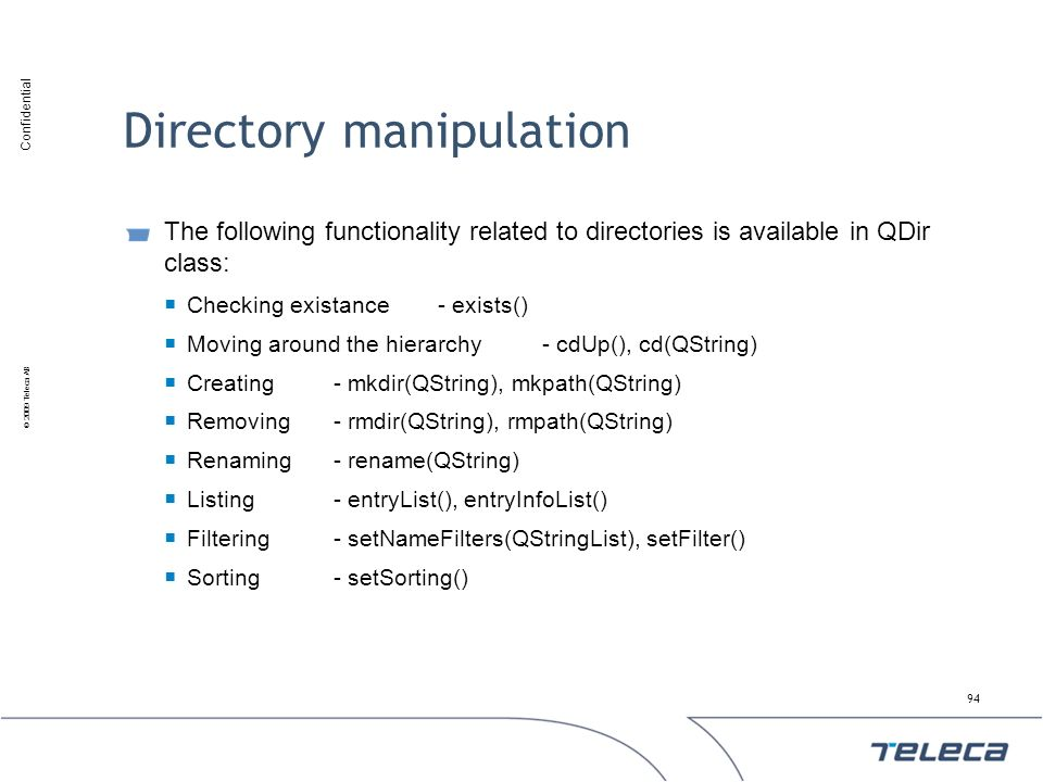 Directory manipulation
