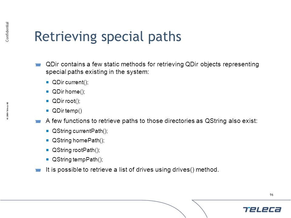 Retrieving special paths